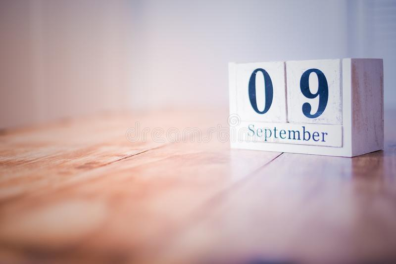 9 September - 9th of September - Happy Birthday - National Day - Anniversary stock photos