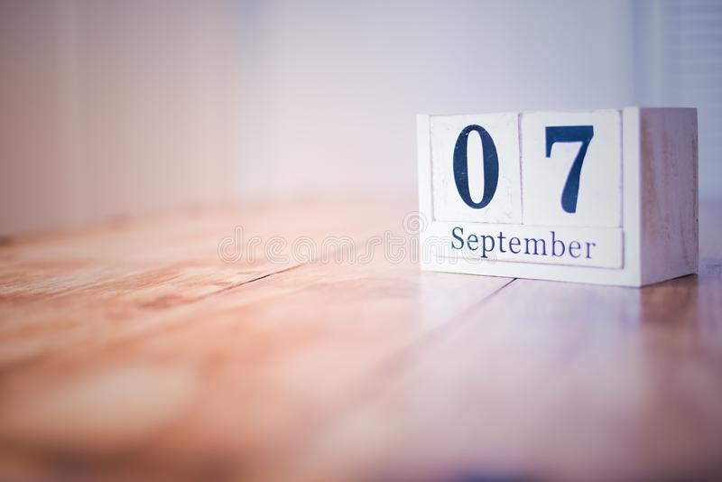 7 September - 7th of September - Happy Birthday - National Day - Anniversary stock images