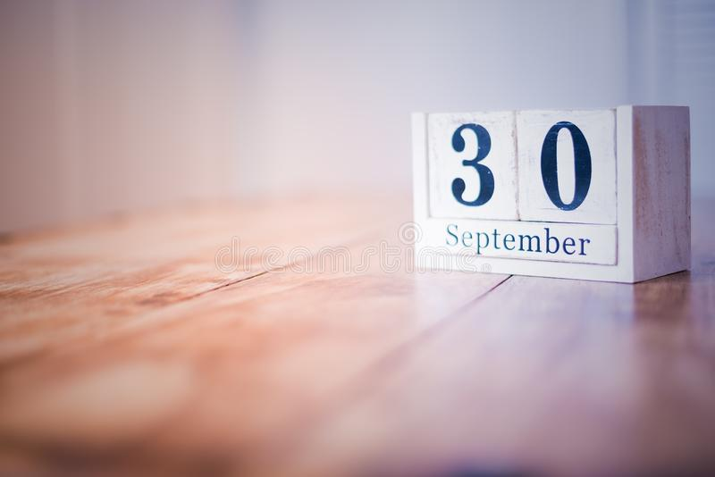 30 September - 30th of September - Happy Birthday - National Day - Anniversary royalty free stock photo