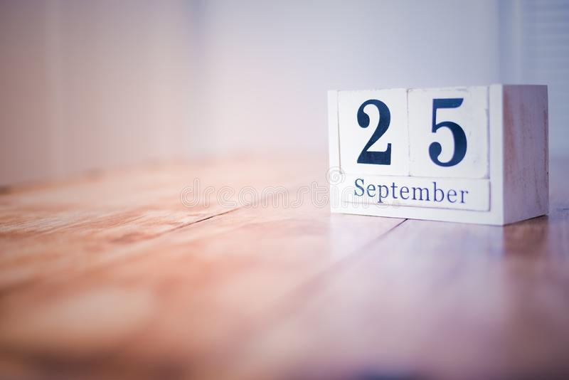 25 September - 25th of September - Happy Birthday - National Day - Anniversary stock photos