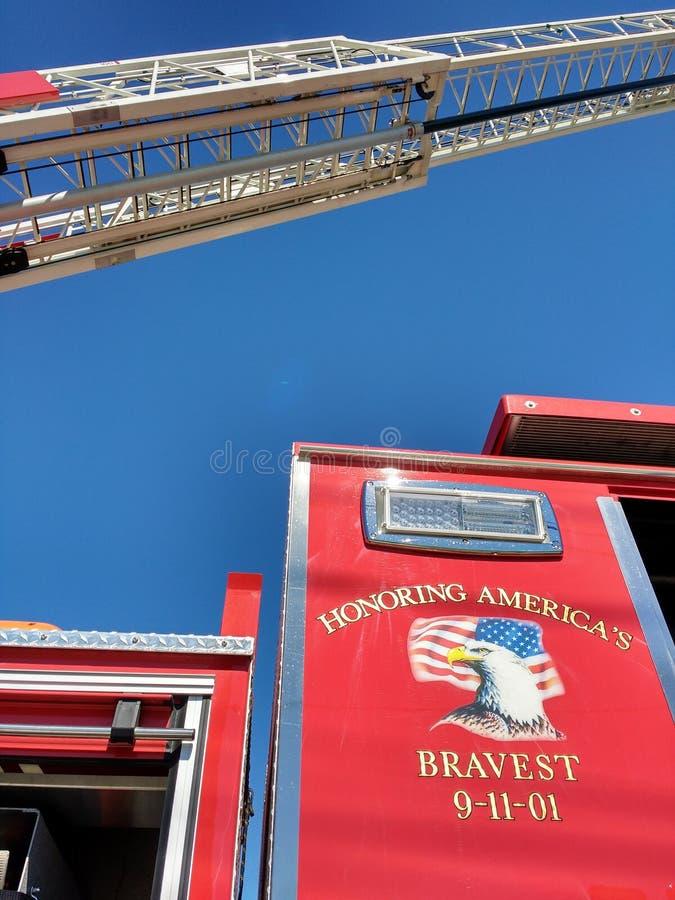 September 11th 2001, Honoring the Bravest, Fire Truck, USA stock photos