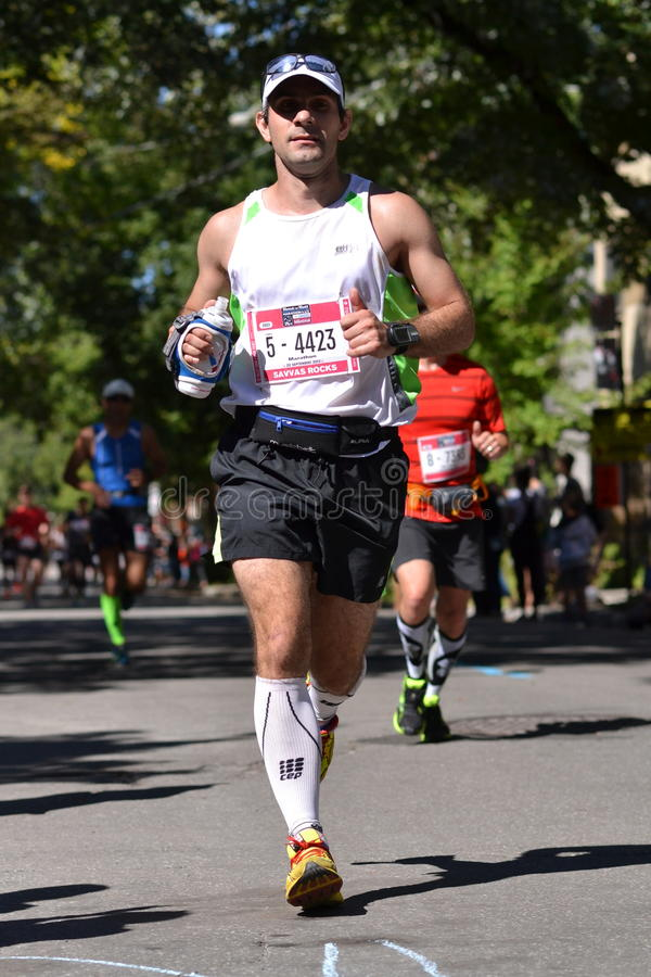 September 20th, 2015 - Montreal, Canada. Marathon de Montreal at the streets and the finish closeup stock photos