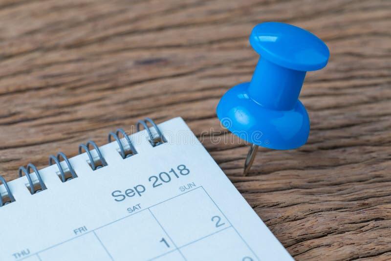 September 2018 tidsbeställning, stopptid, ferie eller datum som planerar c royaltyfria foton