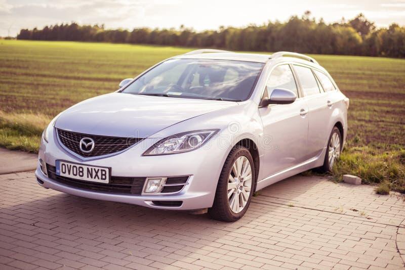 September 2018, Ustka, Poland: Mazda 6 Estate - 2008 model, GH. Car royalty free stock images
