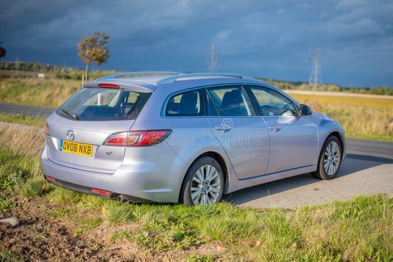 September 2018, Ustka, Poland: Mazda 6 Estate - 2008 model, GH. Car royalty free stock photography