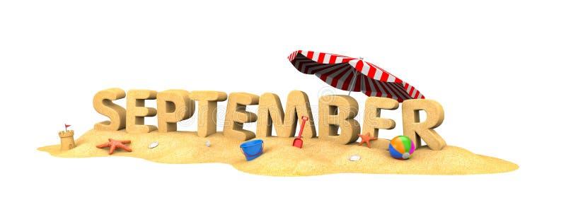 September - woord van zand vector illustratie