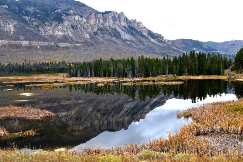 September in Wyoming stock fotografie