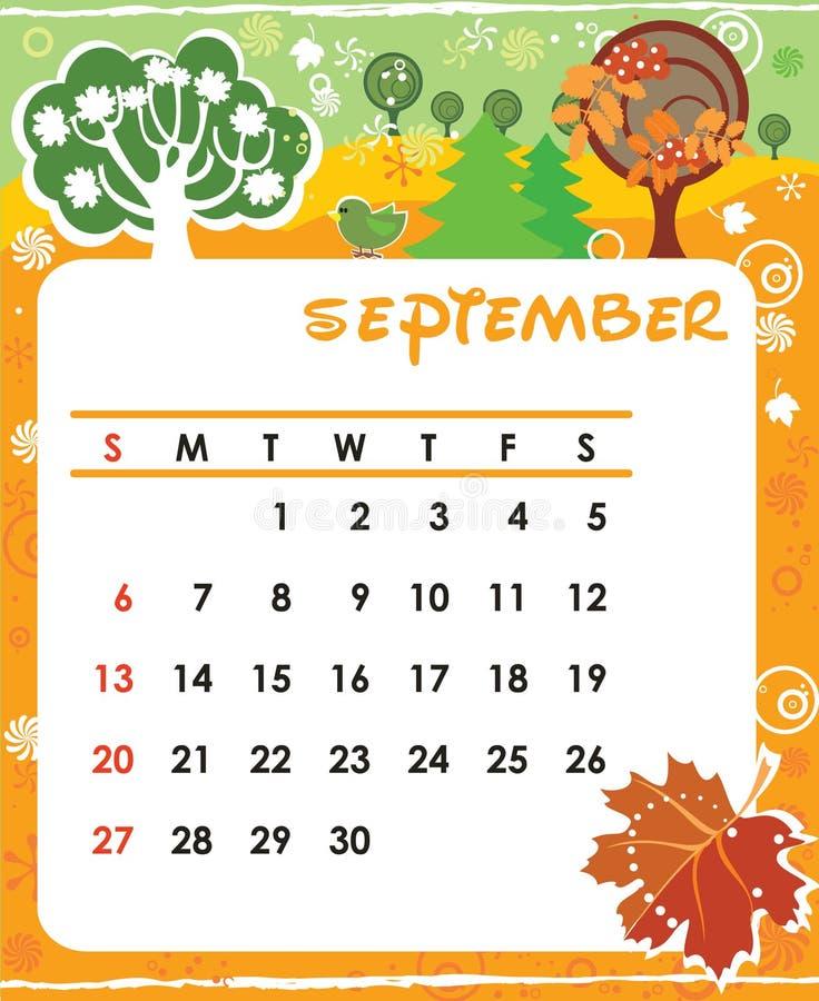 Septembre illustration de vecteur