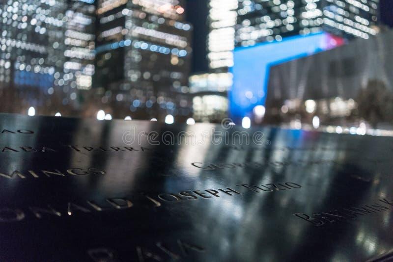 29 septembre 2017 - NOUVEL YORK/Etats-Unis - mémorial au 11 septembre, monde TR photo stock