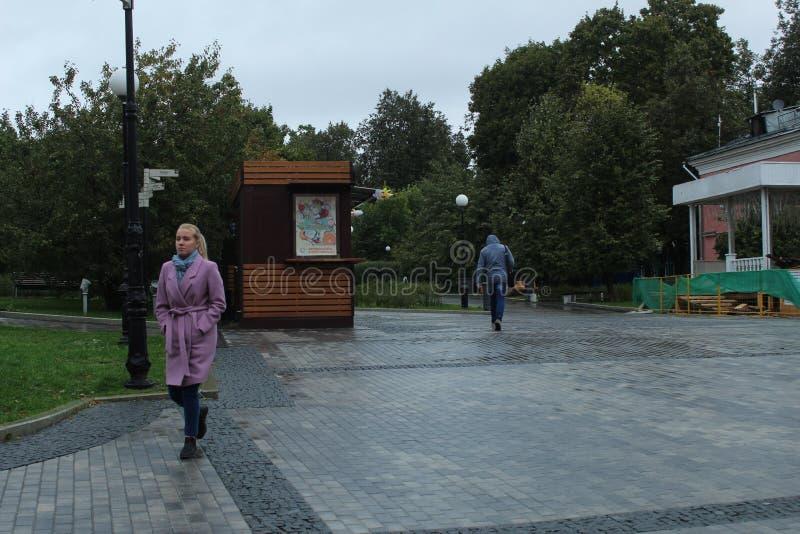 Septembre 2018 Russie moscou Jardin de Baumana Kiosque ? l'entr photos stock