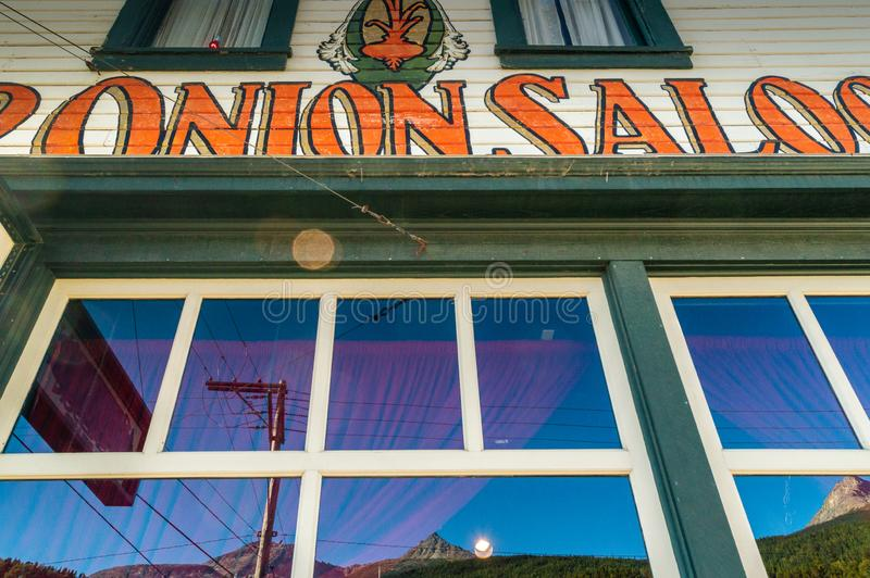 15 septembre 2018 - Skagway, AK : Façade avant de la salle d'oignon rouge, un ancien bordel photos stock