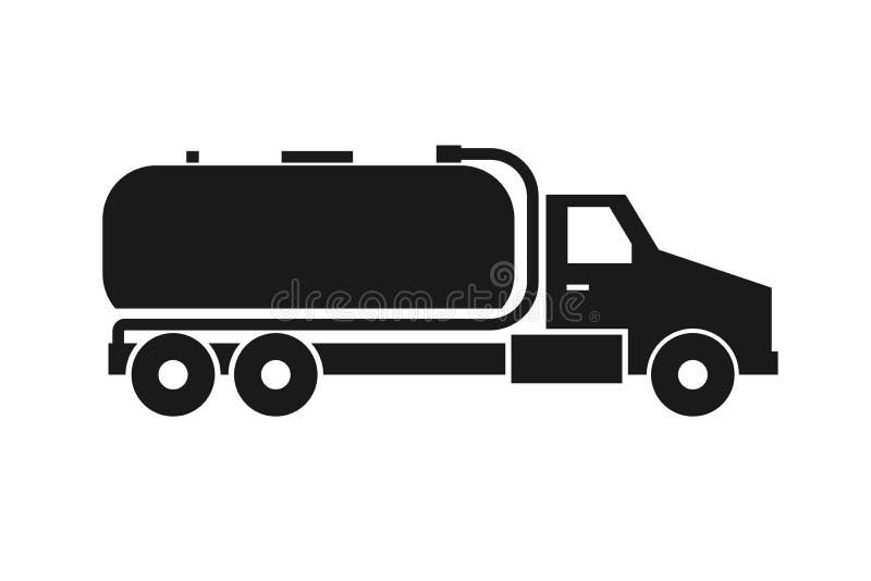 Septyczna cysternowej ciężarówki ikona ilustracji