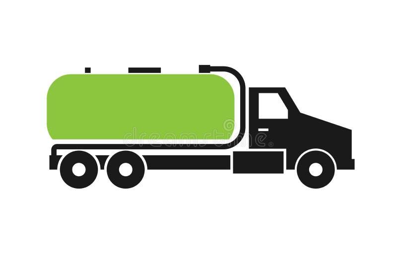 Septyczna cysternowej ciężarówki ikona royalty ilustracja