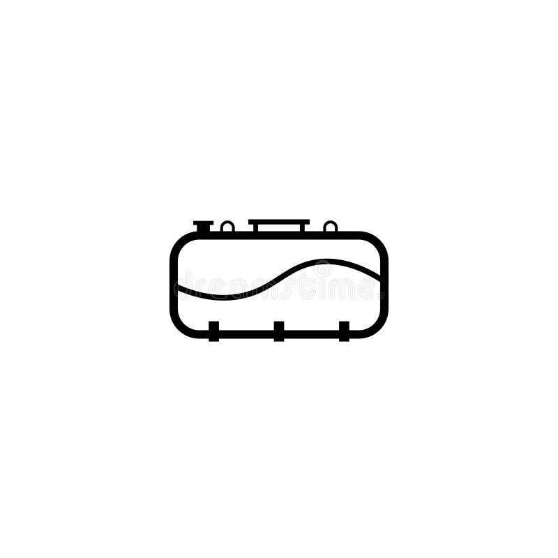 Septycznego zbiornika konturu ikona ilustracji