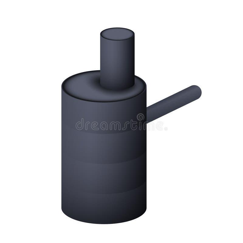 Septyczny zbiornik Odchodowa kanalizacja ilustracja wektor