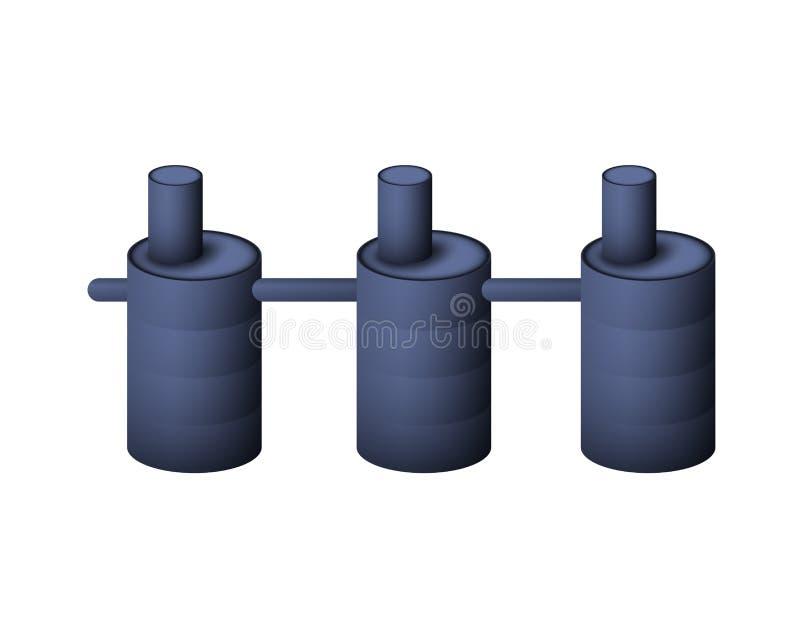 Septyczny zbiornik System kanalizacja ilustracji