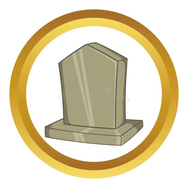 Sepulchral значок вектора памятника иллюстрация штока
