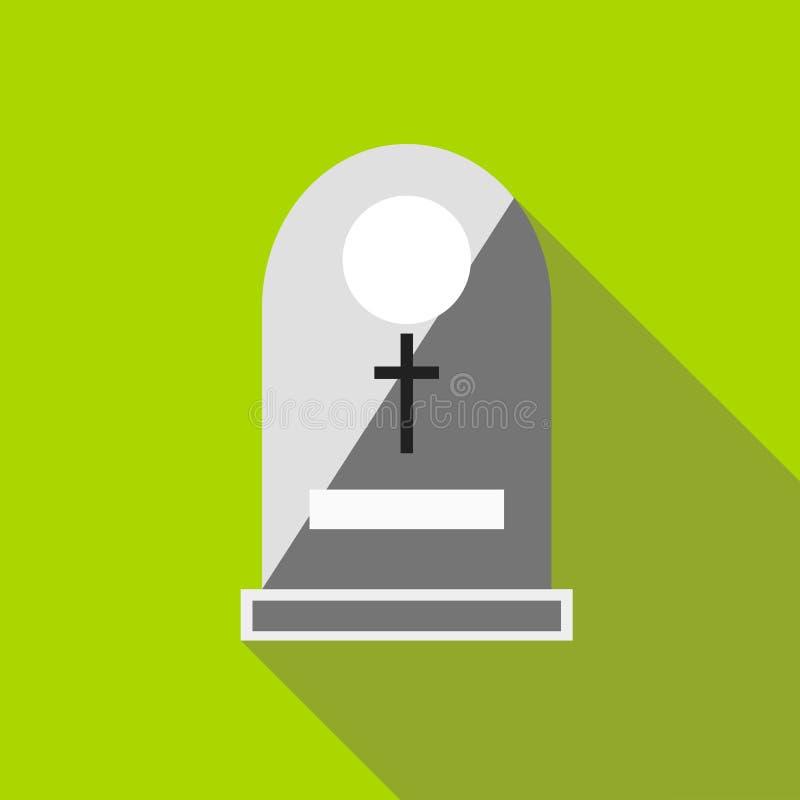 Sepulchral значок памятника, плоский стиль бесплатная иллюстрация