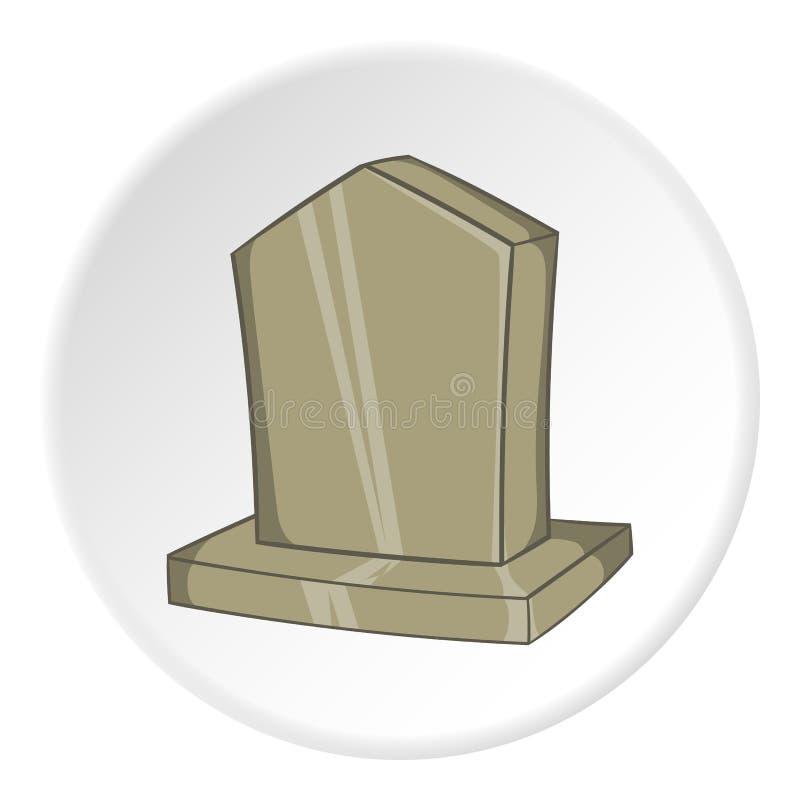 Sepulchral значок памятника, стиль шаржа иллюстрация вектора