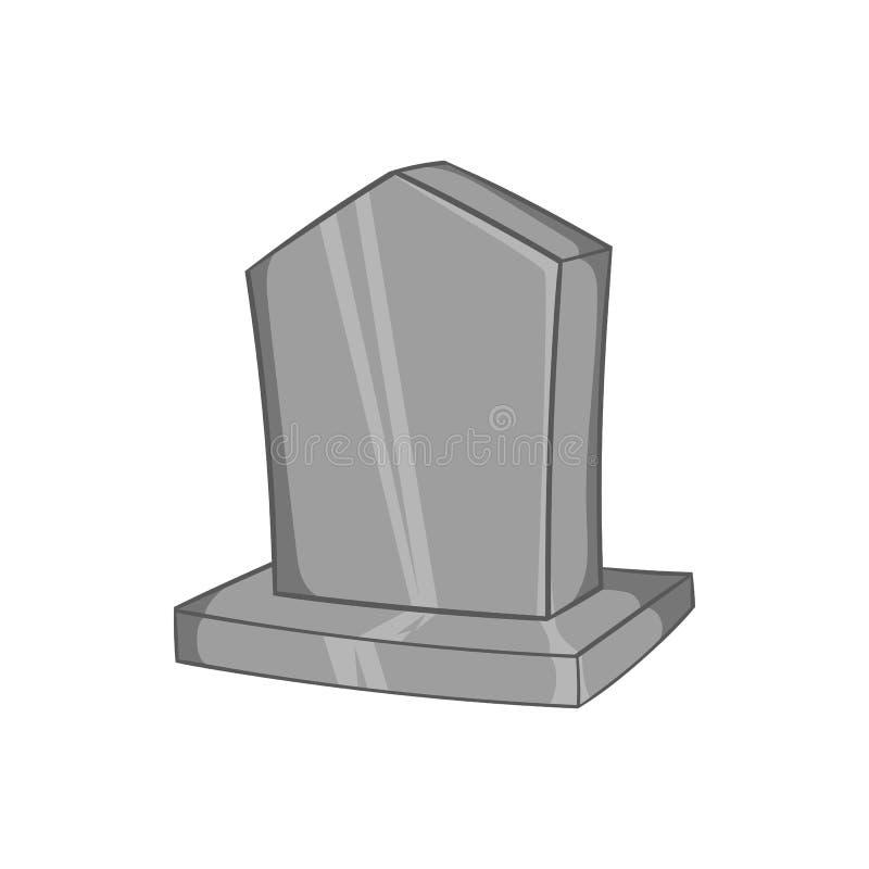 Sepulchral значок памятника, черный monochrome стиль иллюстрация вектора