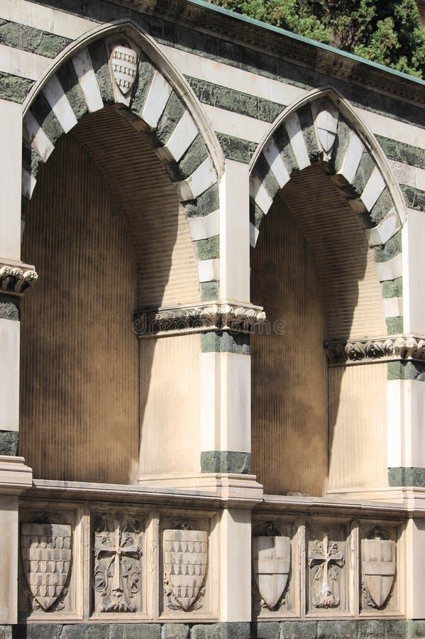 Sepulchral ниши в Флоренсе стоковое изображение rf