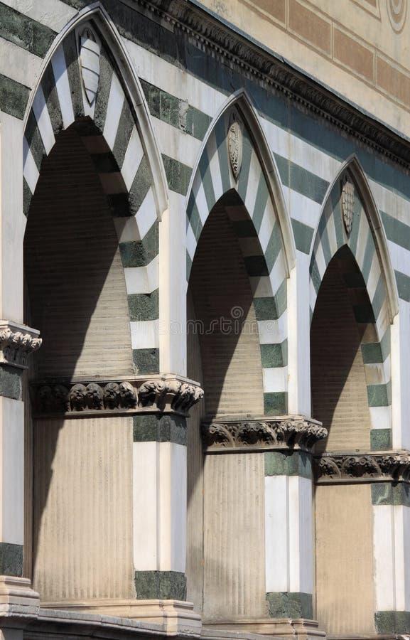 Sepulchral ниши в Флоренсе стоковые фото
