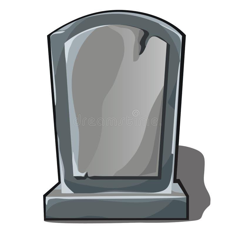 Sepulchral памятник серого камня с космосом для вашего текста изолированного на белой предпосылке Элемент плаката на теме бесплатная иллюстрация