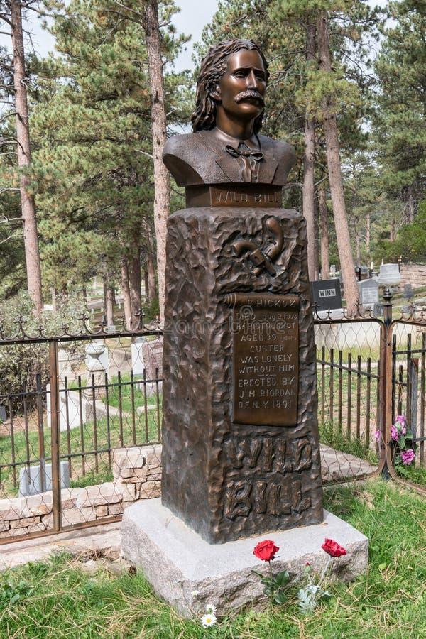 Sepulcro de Bill Hickok salvaje imagen de archivo libre de regalías