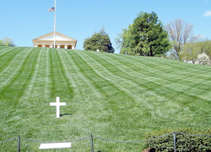Sepulcro del cementerio de Arlington de Robert Kennedy 2010 fotos de archivo libres de regalías