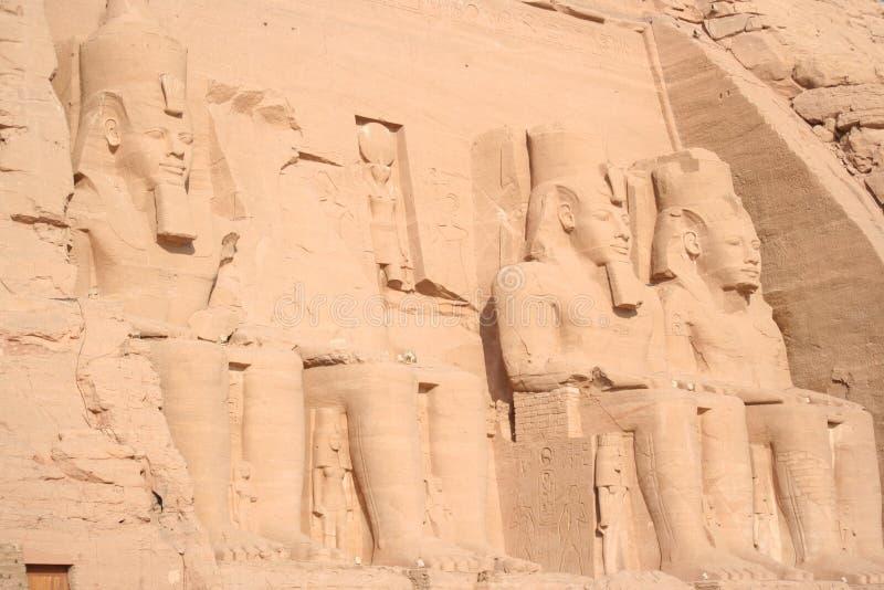Sepulcro del farao del simbel de Abu en Egipto fotografía de archivo