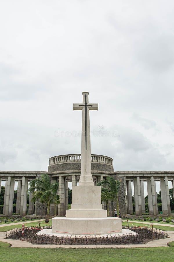 Sepulcros de la guerra en el cementerio de la guerra de Kyant en Ktauk Kyant, Myanmar fotos de archivo
