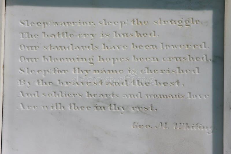 Sepulcros del confederado del cementerio de la madera de roble de Gettysburg fotos de archivo libres de regalías