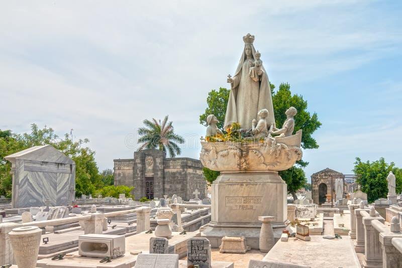Sepulcros y tumbas del cementerio de los dos puntos fotos de archivo