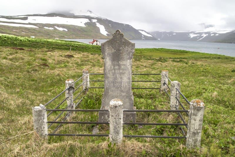 Sepultura abandonada, Islândia fotografia de stock
