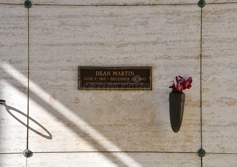 A sepultura de Dean Martin imagem de stock royalty free