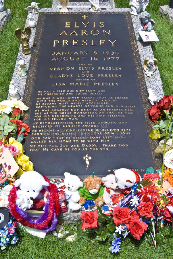 Sepultura de Elvis Presley, Graceland, TN fotografia de stock royalty free