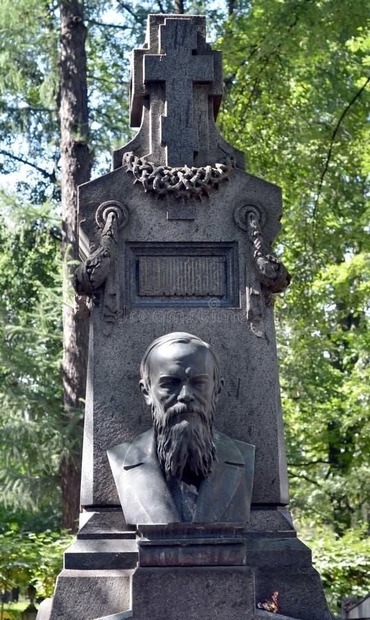 Sepultura de Fyodor Dostoevsky foto de stock