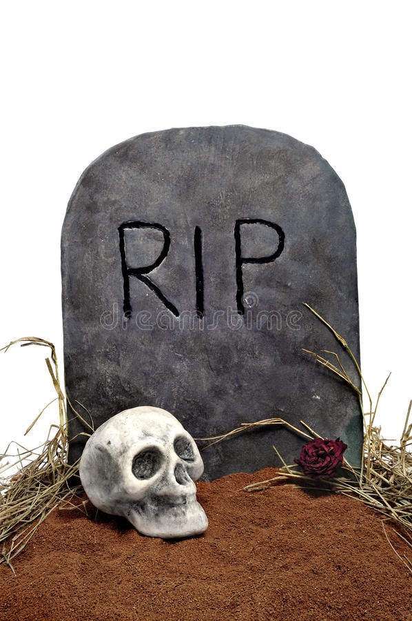 Sepultura de Halloween imagem de stock royalty free