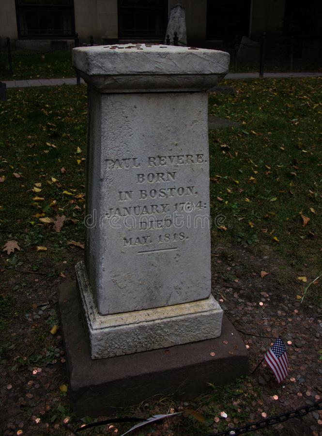 A sepultura de Paul Revere foto de stock royalty free