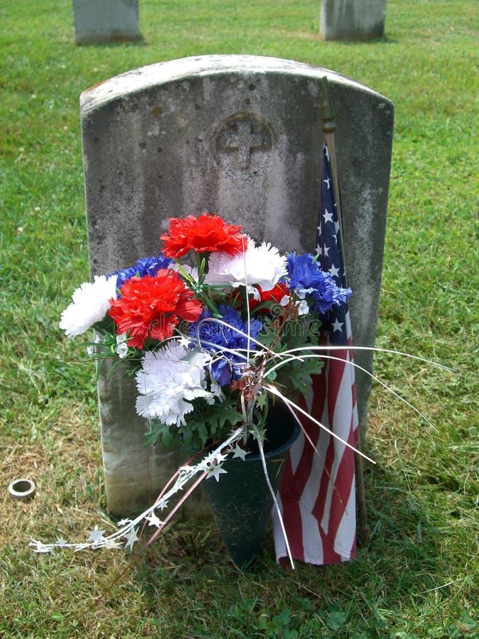Sepultura do cemitério de Antietam imagens de stock