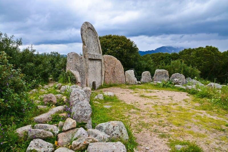 Sepultura do ` de Giants, Sardinia, Itália fotografia de stock