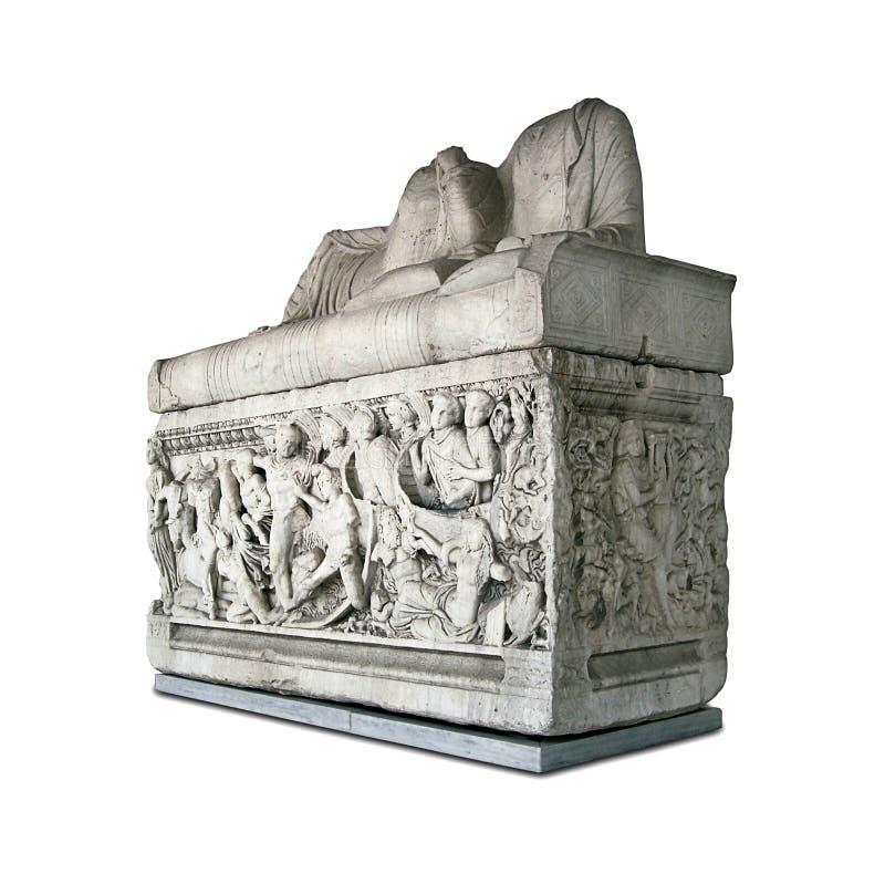 Sepultura do grego cl?ssico fotografia de stock royalty free