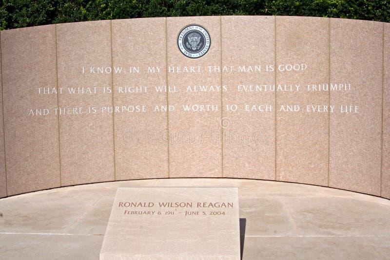 Sepultura do presidente Ronald Reagan foto de stock royalty free
