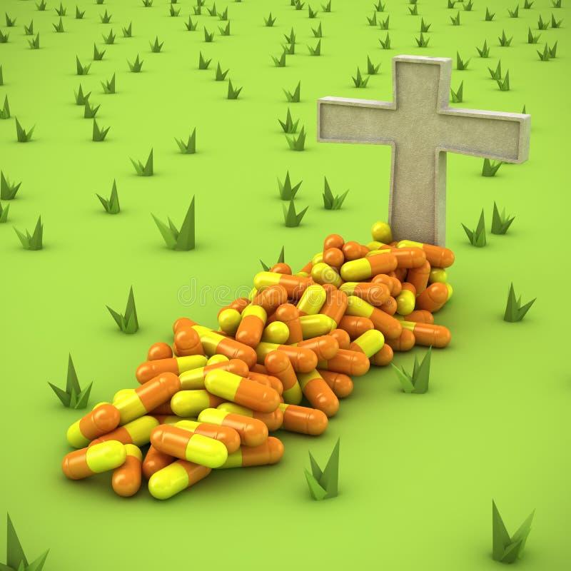 Sepultura farmacêutica ilustração do vetor