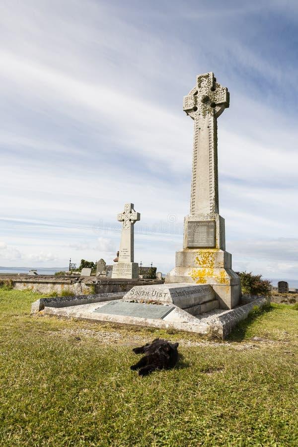 Sepultura histórica de Flora MacDonald em Skye em Escócia foto de stock