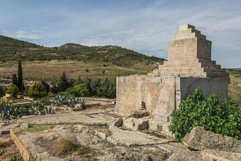 Sepultura monumental persa, izmir fotografia de stock