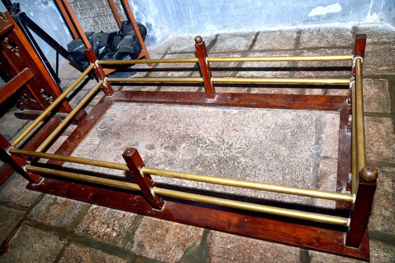 A sepultura original de Vasco da Gama na igreja de StFrancis, forte Kochi foto de stock