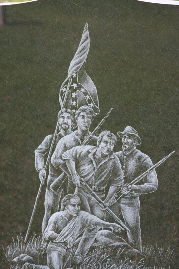 Sepulturas do confederado do cemitério da madeira de carvalho de Gettysburg imagem de stock royalty free