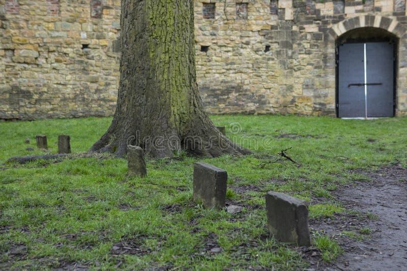 Sepulturas vitorianos em Lucy Tower em Lincoln Castle fotos de stock royalty free