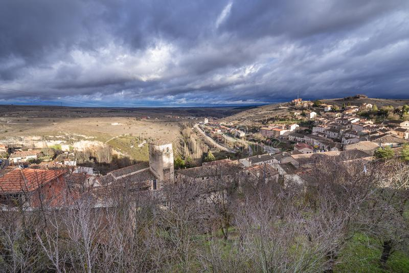 Sepulveda στην Ισπανία στοκ φωτογραφίες με δικαίωμα ελεύθερης χρήσης
